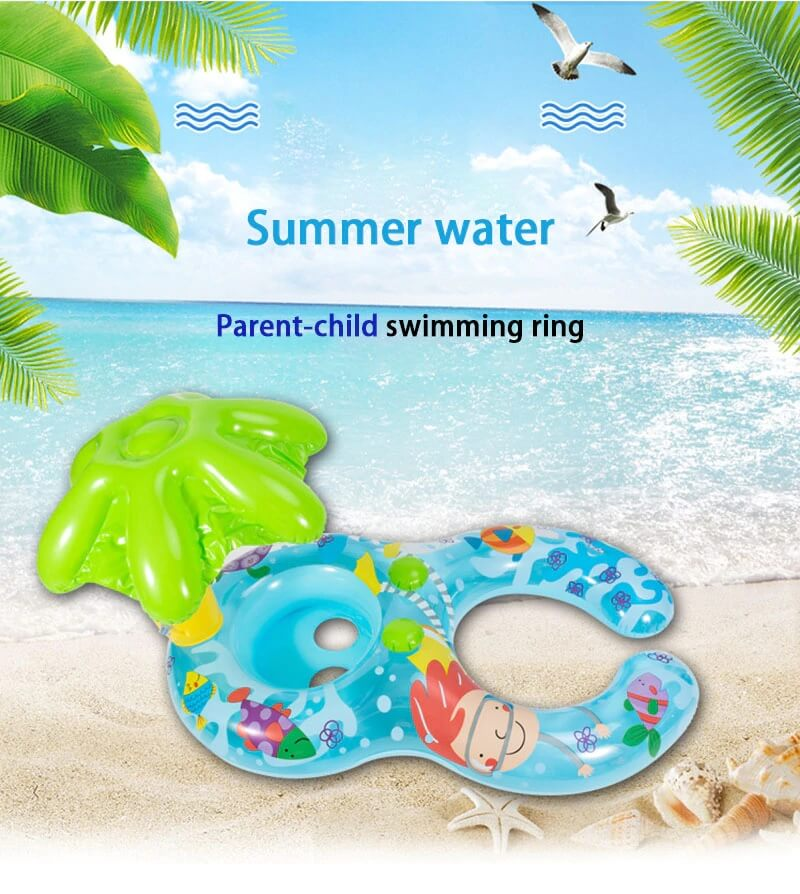 Parent Kid Swimming Circle Ring