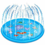 blue 170cm Children Play Water Mat