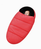 Red cocoon baby sleeping bag