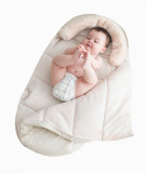 White cocoon sleeping bag expanded view