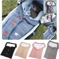 Baby Plush Button Sleeping Bag Infant Stroller Sleeping Sack Winter Warm Soft Cotton Toddler Blanket Swaddling Wrap Sleep Sack