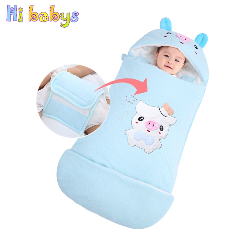 Baby Sleeping Bags Warm Envelopes For Newborn Cocoon Thicken Kids Winter Sleepsacks Swaddle Wrap Anti -kick Quilt Baby Bedding