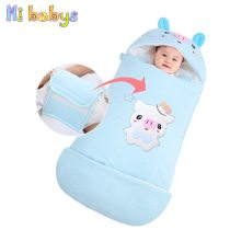 Baby Sleeping Bags Warm Envelopes For Newborn Cocoon Thicken Kids Winter Sleepsacks Swaddle Wrap Anti -kick Quilt Baby Bedding