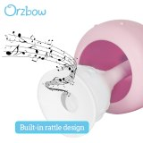 Orzbow Baby Rattles Teething Toys Infant Silicone Teethers Musical Newborn Hand Bells Teethers Toy Early Educational 0-24M Gift