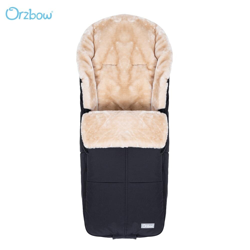 Orzbow Cashmere Baby Sleeping Bags Infant Stroller Footmuff Warm Newbron Envelope Children Stroller Bunting Bags For kids