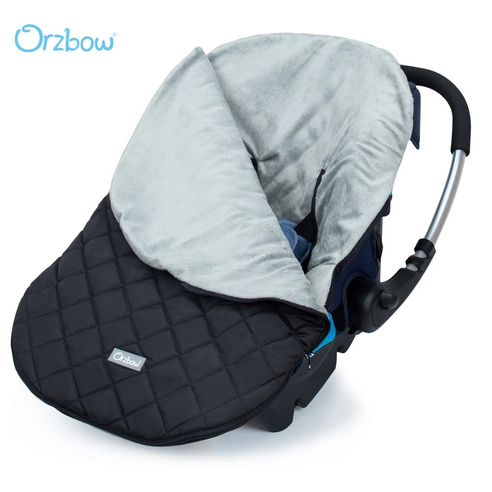 Orzbow Warm Baby Car Seat Covers Infant Carrier Basket Footmuff Covers Winter Newbron Cocoon in Baby Travel 0-12M