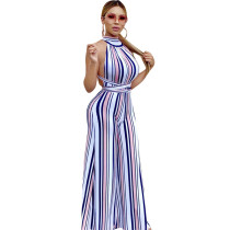Stripe Striped Loose Pants Jumpsuits & Rompers YZ03049