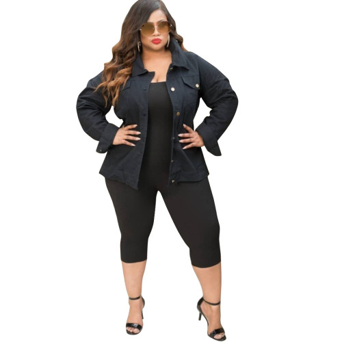 Black Turndown Collar Patchwork HOLLOWED OUT Polyester Blazer & Suits &Jacket LDS73057