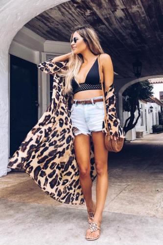 Leopard print Polyester Leopard Sexy Fashion One-Piece Swimwear