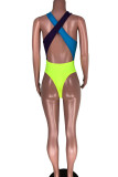 Multi-color Polyester backless Sexy Cute Europe and America Swimwears