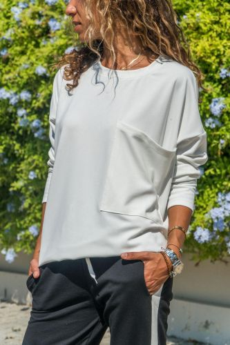 White O Neck Long Sleeve Solid Sweaters & Cardigans DL334545