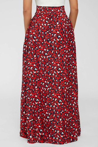 Red Fashion Polyester Print BOTTOMS