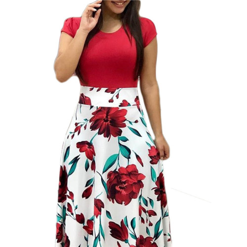 White A-Line None Ankle-Length Fashion Print Skirts