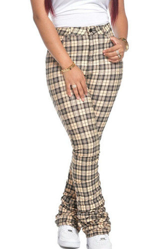 Black and white Polyester Fashion Sexy adult Ma'am Plaid Old Draped Draped Plus Size