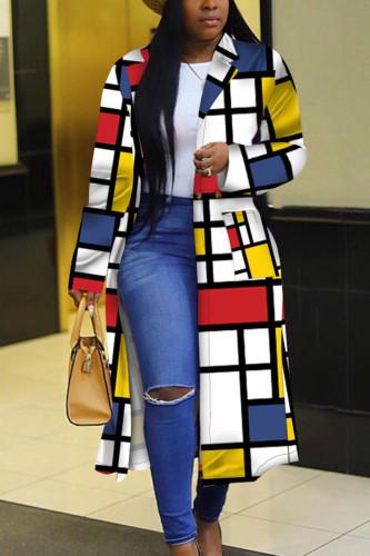 Yellow Street Polyester Print Outerwear