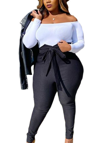 Black Sexy Polyester Solid Regular BOTTOMS