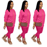 Cotton OL Solid pencil Long Sleeve Two Pieces