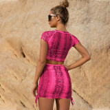 Women Sexy 2 Piece Sets Outfits Plus Size Mesh Dresses 2021 Summer Slim Casual Two Piece Set