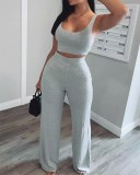 2021 new arrival Two Pieces Women Clothing Summer fashion vest high waist 2 piece sets outfit for ladies