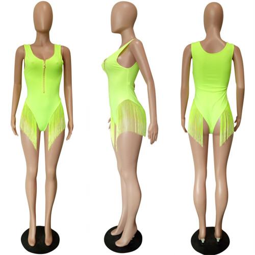 Swimsuit 2021 Women's Hot Style Gradient Fringe Bikini Swimsuit