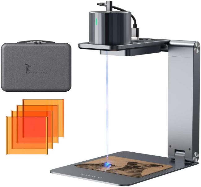 L1 Pro Super: The Most Compact & Safe & Easy to Use Laser Engraver with auto-stand and big cases