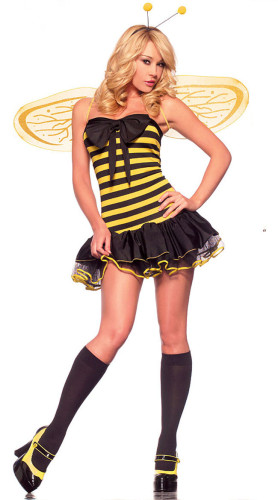 Hot Busy Bee Costume Hollow Costume Lady dresses