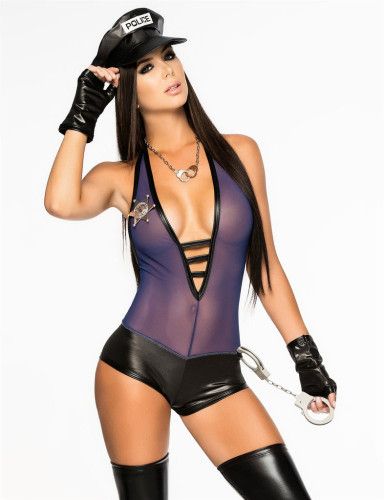 New Police Women Costumes Romper