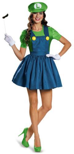 Girl's Mario Sexy Costume women dresses
