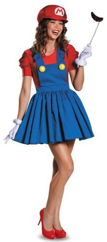 Top sale Girl's Mario Sexy Costume women dresses