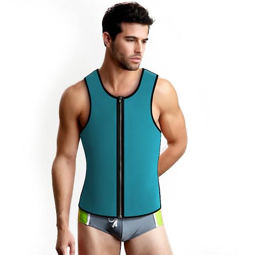 Men's Reversible Zipper Neoprene Sauna Vest Tank Shaper Slim Waist