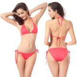 11 Colors Basic Halter Triangle Solid Bikini Set 2PCS Swimsuit