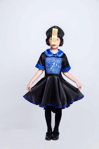 Little Girls Chinese Zombie Halloween Costumes