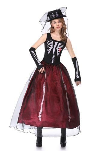 Skeleton Ghost Bride Halloween Costume Wholesale