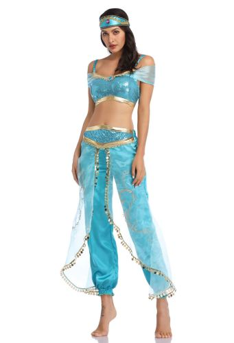 Aladdin Princess Jasmine Cosplay Halloween Costume