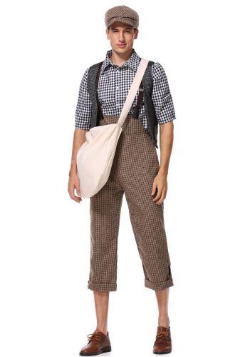 Newsboy Cosplay Mens Role Play Adult Halloween Costume