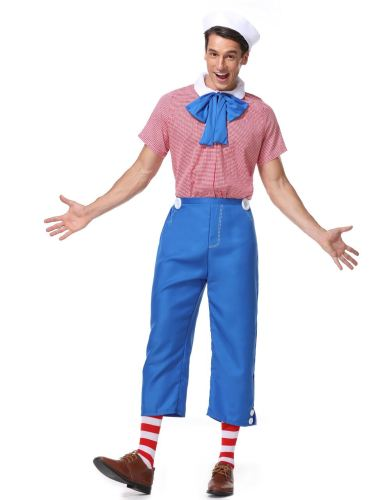 Clown Cosplay Mens Party Role Play Adult Halloween Costume