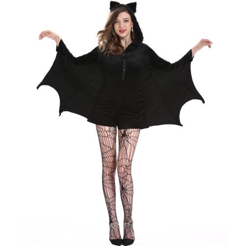 Plus Size Vampire Bat Cosplay Womens Rompers Halloween Costume
