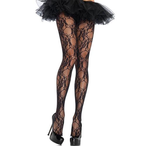 Black Sexy Jacquard Mesh Stocking