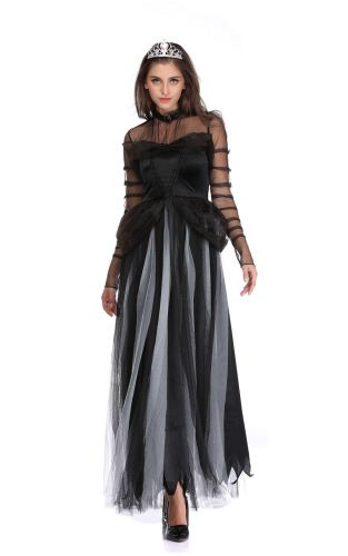 Corpse Bride Cosplay Dress Womens Halloween Costume