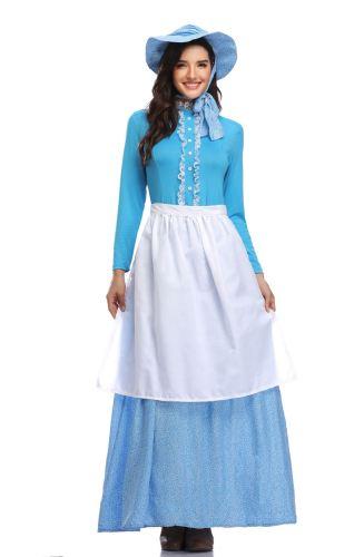 Colonial Period Pioneer Girls Costumes Adult Halloween Cosplay