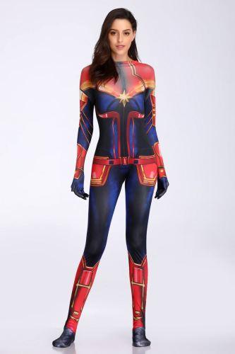 Captain Marvel Cosplay Adult Halloween Costume