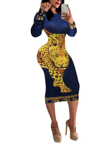 Panther Animal Print Sexy Bodycon Dress