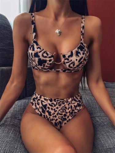 U-Ring Leopard Print Bikini Set