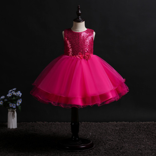 Sleeveless Little Girl's Party Dress