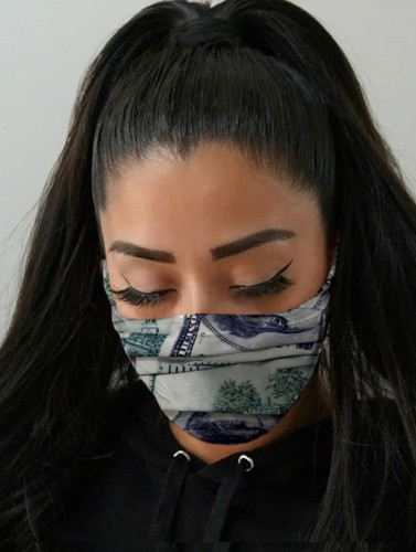 Dollars Print Face Mask (non-protective)