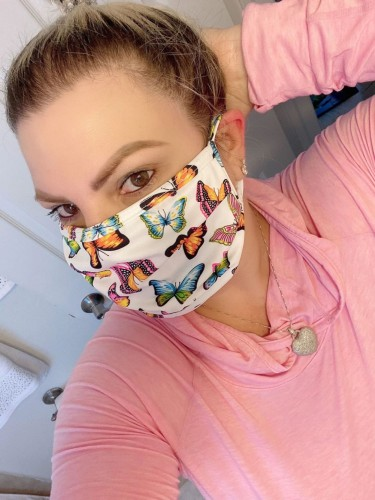 Butterfly Print Face Mask(non-protective)
