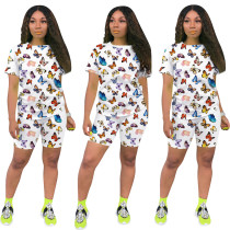 Butterfly Print Tee & Shorts