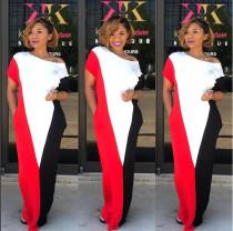 Colorblock Casual Maxi Dress