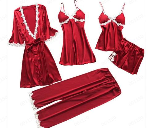 Silky Satin 5PCS Set Nightgown