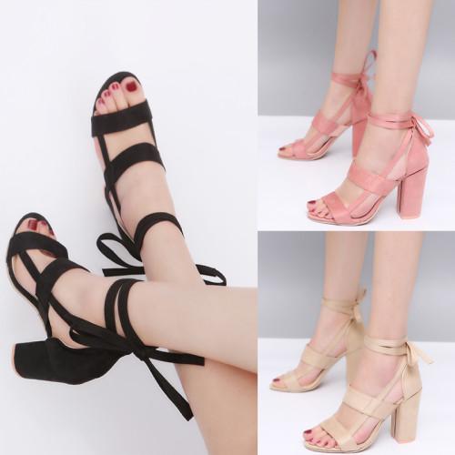 Women's Straps Block Heel Sandal